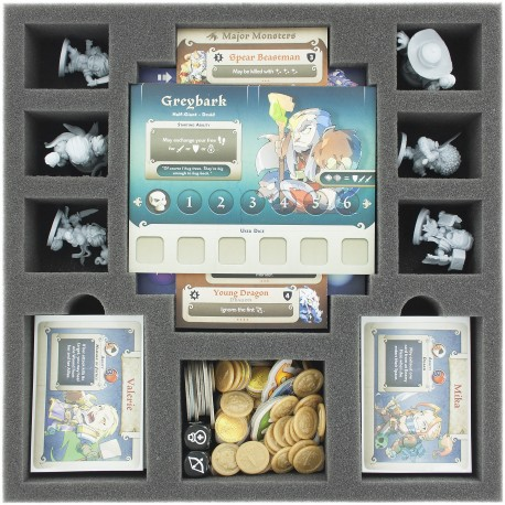 50 mm foam tray with 21 compartments for Masmorra: Dungeons of Arcadia - Kickstarter exclusives