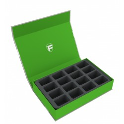 Magnetic Box green for 16 Blood Bowl miniatures - 2016 Edition