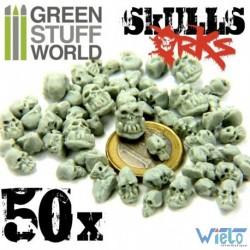 GSW- 50x Crânes ORCS en résine