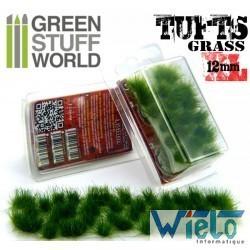 GSW- Touffes d'herbe XL - 12mm - Auto-Adhésif - VERT FONCE