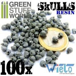 GSW- 100x Crânes Humains en résine
