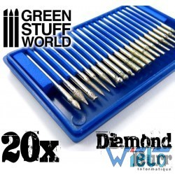 GSW- Jeu de fraises diamantées avec 20 pointes
