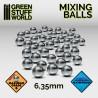 GreenStuffWorld - Billes Agitateurs en acier inoxydable 6.35mm * 40