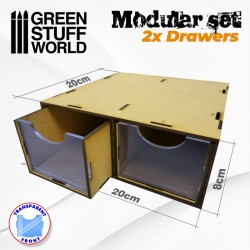GreenStuffWorld - Ensemble modulaire 3x tiroirs MDF