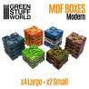 GreenStuffWorld - Caisse en Bois Futuristes MDF
