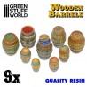 GreenStuffWorld - Barils en bois en Résine *9
