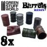 GreenStuffWorld - 8x Barils en Résine