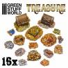 GreenStuffWorld - 16x Pièces de Trésor en Résine