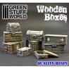 GreenStuffWorld - Set résine Caisses en bois