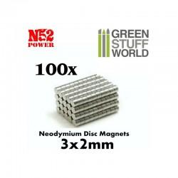 GreenStuffWorld - Aimants N52 (3*2) *100
