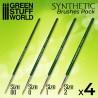 GreenStuffWorld - GREEN SERIES Set de Pinceaux Synthétiques