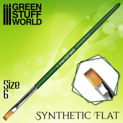 GreenStuffWorld - GREEN SERIES Pinceau Synthétique Plat Taille 3