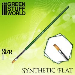 GreenStuffWorld - GREEN SERIES Pinceau Synthétique Plat Taille 6