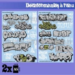 GreenStuffWorld - Decalcomanies a l'eau - Affiche Vintage
