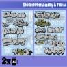 GreenStuffWorld - Decalcomanies a l'eau - Mix Trenes et Graffitis - Argent et Or