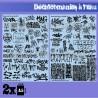 GreenStuffWorld - Decalcomanies a l'eau - Decalcomanies a l'eau - Mix Trenes et Graffitis - Noir