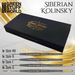 GreenStuffWorld - GOLD SERIES Pinceau Kolinsky Sibérien - 00