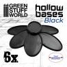 Socles en plastique noir avec CREUX- Oval 75x42mm
