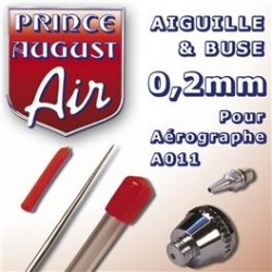 Buse + Aiguille 0,2 pour Aérographe A011