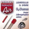 Buse + Aiguille 0,3 pour Aérographe A011
