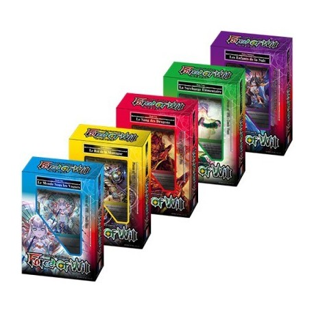 Force Of Will - R0 - Lot De 5 Deck De Démarrage