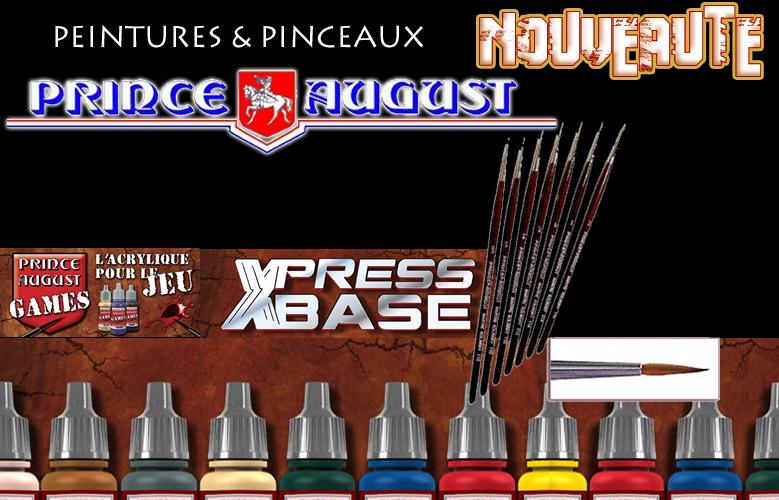 Prince August : gammes pinceaux, peintures Games et bombes de sous couches XPRESS
